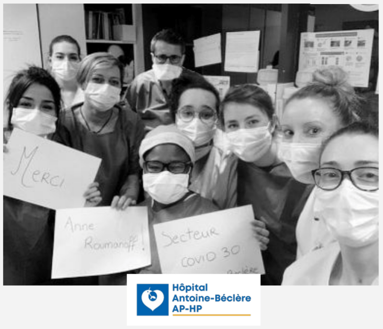 Soignants de l'hôpital Antoine Béclère